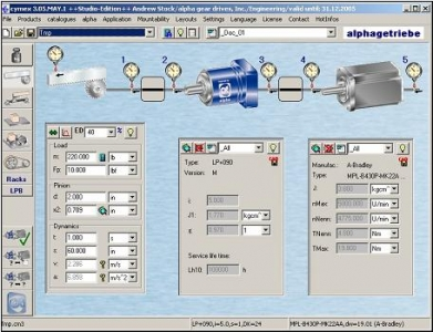 Alpha introduces cymex servo sizing software for Servo motor sizing calculator online